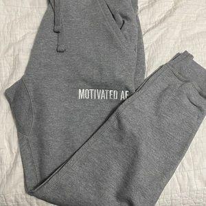 Motivated AF jogger